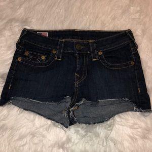 True Religion Denim Shorts Made In the USA
